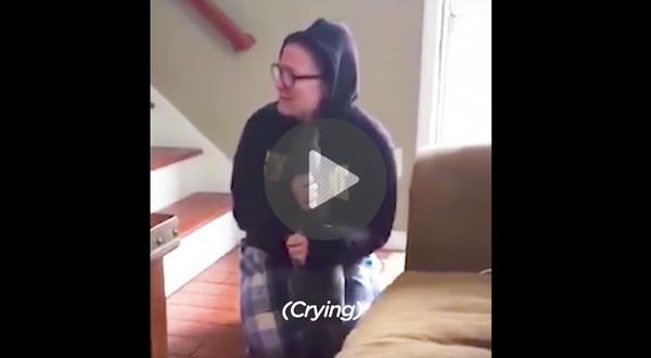 girl gets new dog